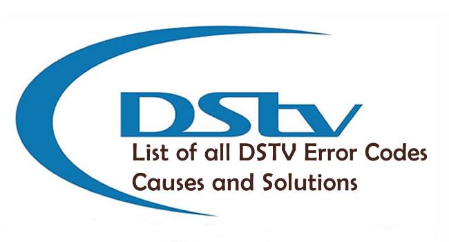 DSTV Error Codes