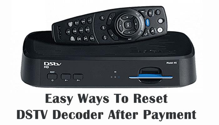 Reset DSTV