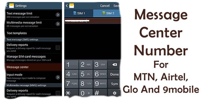 Message Center Number