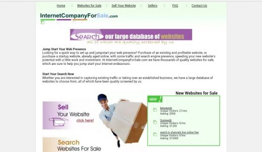 Internet company for sale