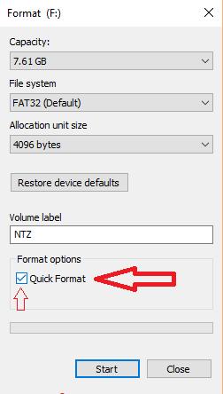 Quick Format