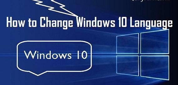 Change Windows 10 Language