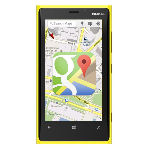Google Maps on Windows Phone