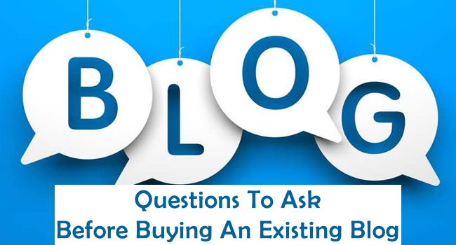 Buy Existing Blog