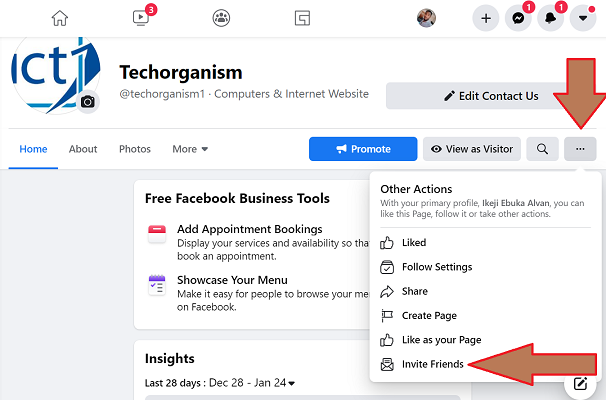 Invite All Your Facebook Friends To Your Page